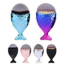 Fantasy Mermaid Fish Makeup Brush Beauty Powder Foundation Contour Brushes Foundation Powder Blush Contour colorful makeup brush