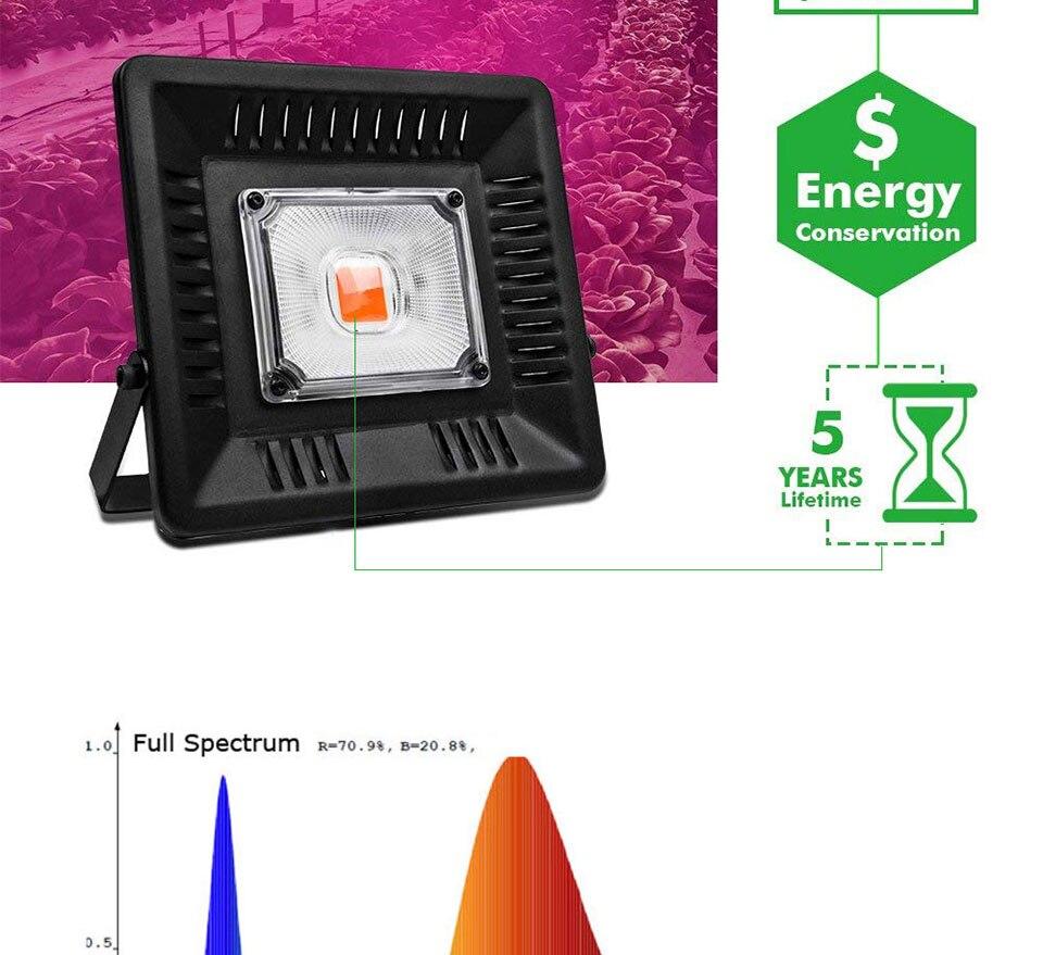 AC 110V 220V LED COB Lamp Chip 20W 30W 50W 100W 150W Full Spectrum LED Plant Grow Light Driverless Smart IC DIY LED Floodlights (17)
