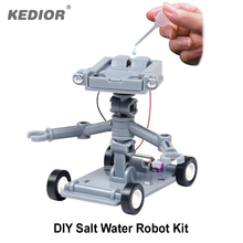 Kedior Salt Water Powered Robot DIY Educational Science Toys Little Fun Mechanics Kit Eco-friendly No Batteries Required(China)