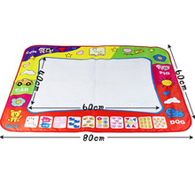 Big size 80x60cm Water Drawing Toys Mat Aquadoodle Mat&1 Magic Pen/Water Drawing board/baby play