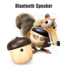 Tiny speaker portable Stylish Creative Mini Wireless Bluetooth Nut Speaker with Sling for iPhone Android xiaomi huawei