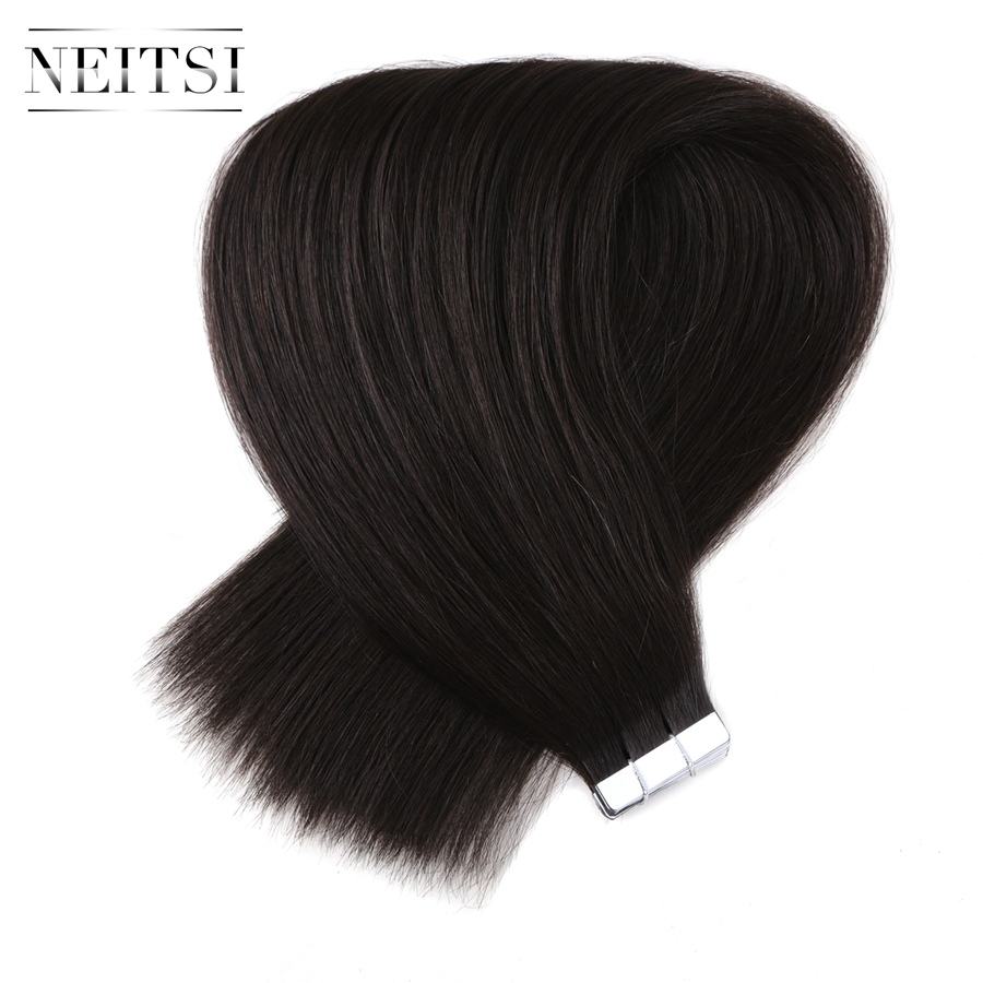 "Neitsi Straight Brazilian Skin Weft Human Hair Remy Tape In Hair Extensions 20"" 2.5g/s 20pcs 50g 613# 1B# 1# 60# Available(China (Mainland))"