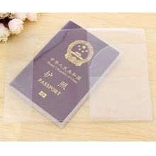 1PC  Transparent silicone waterproof dirt ID Card holders passport cover business card credit card bank card holders 9x 13.1cm