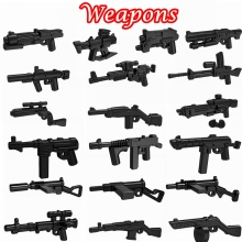 10 Pcs/lot Science fiction & Second War Weapons Mini Bricks Guns for Soldiers Building Blocks Toys for Children lepin