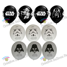 12inch 50pcs/lot Star Wars  Latex Balloons The Force Awaken Balloons Globos star wars Party Decoration Baloons Kids Gifts