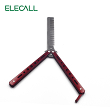 Not Open Blade American Red Butterfly Practice Knife Stainless Steel Camping Tool Combe Balisong knife