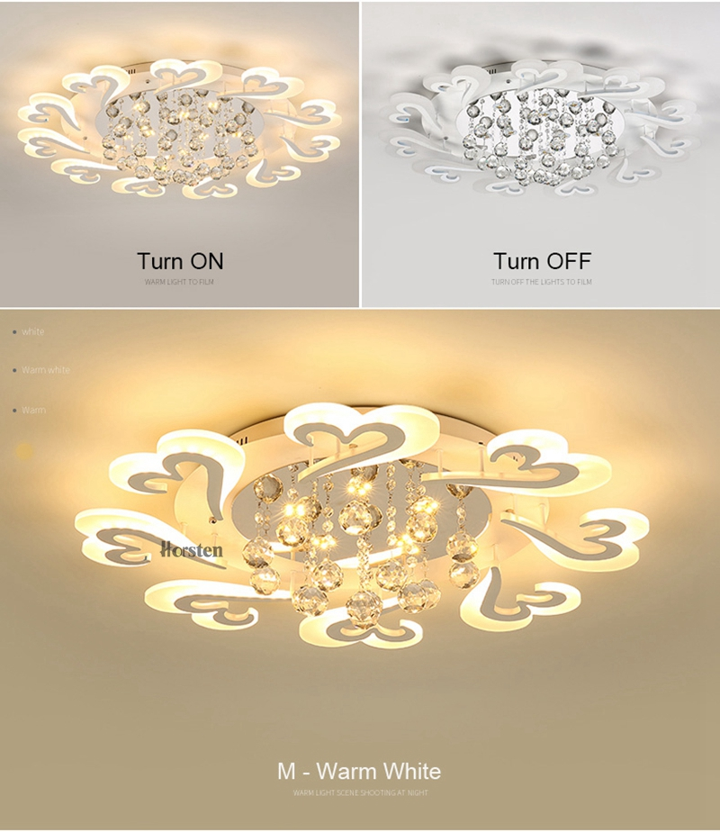 European Style LED Ceiling Chandeliers Lights For Living Room Dinning Room Restaurant Crystal Acrylic Luxury Chandelier Lamp (11)