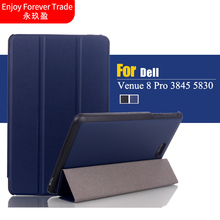Leather Magnetic Folio Book Case Stand Cover For Dell Venue 8 Pro 3845 5830 8 inch Tablet/For Dell Venue 8 3840(China)