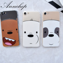 Fashion Network Cartoon We Bare Bears Grizzly Panda Ice Bear soft tpu case for iphone 6s 7 Plus 6 Plus 5s SE Funda Coque case