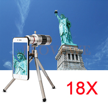 HD 18x Zoom Optical Telescope Telephoto Lens For Samsung S3 S4 S5 S6 S7 edge Plus Cases Phone Lenses Kit With Clips Tripod