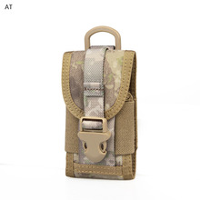 1000D Waterproof Nylon Cell Phone Pouch Molle Military Waist Belt Zipper Phone Small Bag Case CL6-0063