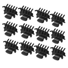 Fashion Women Girls 12pcs Black Plastic Mini Hairpin 10 Claws Hair Clip Clamp