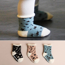 Star Children Sock Cotton Terry Kids Socks Thick Infant Warm Sock Autumn Winter Boys Girls Apparel Casual Soft Toddler Clothing