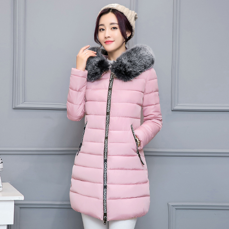 BINYUXD Winter jacket women Hot 2017 new lady park long female jacket thick coat and coat high quality warm Womens winter coatsÎäåæäà è àêñåññóàðû<br><br>