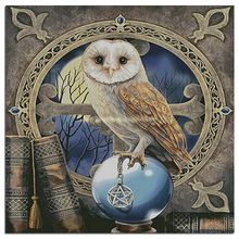 diamond embroidery owl kits cross-stitch globe rhinestone brown books mosaic crafts photo painting animal icons needlework cloth(China)