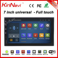 "KiriNavi 7"" Full Touch Type Android 7.1 Quad core android car stereo universal car dvd player double din car radio navigation(China)"