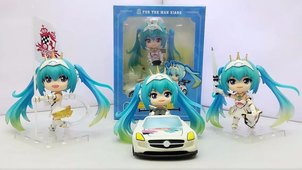 Anime Figure 10 CM 3PCS/SET Hatsune Miku Racing Ver. PVC Mini Action Figure Toy Doll Model Collectibles<br><br>Aliexpress