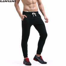 GANYANR Brand Running Pants Men Fitness Legging Sport Leggings Wear Gym Athletic Outdoor Long Trousers Breathable Harem Winter(China)