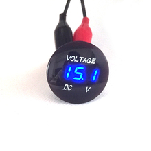 DC 12V 24V LED Digital Display Voltmeter for Car Motorcycle Boat Marine Truck Rv ATV (Blue Green Red LED)(China)