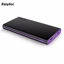 Easyacc 10000mAh Power Bank Double USB External Battery Pack Powerbank Charger for Mobile Phones and Tablets Free shipping