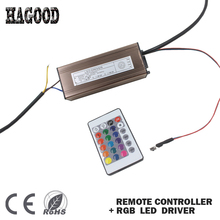 100W RGB LED Driver Light Transformer External Constant Current 300mA Waterproof Driver+ Remote Control for Led Lamps