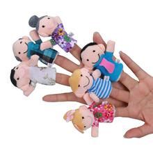 2017 New Hot Sale New 6 Pcs Finger Even Storytelling Good Toys Hand Puppet For Baby's Gift Dropshipping Wholesale Fun New Story(China)