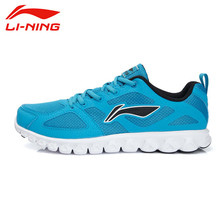 LI NING Original Running Shoes For Men Fabric Leather Lace Up Breathable Cushioning Sneakers Men Sport Shoes ARHL035