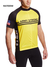2017 New US Army Mens Cycling Clothing Short sleeve cycling jersey ropa ciclismo /maillot ciclismo bike Jersey Black yellow