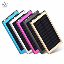 Buy Solar Power Bank Case 20000mAh Dual USB Port Outdoor Waterproof Power Bank LED Flashlight Solar Panel Charger phone for $10.08 in AliExpress store