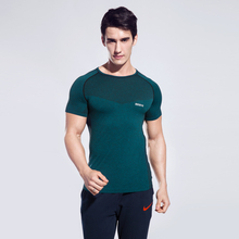 2017 New Men Yoga Shirts Outdoor Fitness Breathable Male Sport Tops Workout Running Sexy Wine Red Clothes Comfortable Sportswear