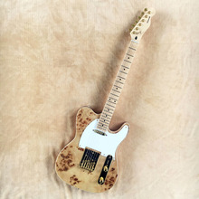 Factory wholesale Deadwood skin top Telecaster electric guitar with gloden hardware , free shipping -Z17