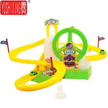 YUSHIXING Electric Train Car Race Track Car Ferris wheel Toy Puzzle  Music & Light Children Assembly  Racing Track Kids Toy