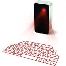 Virtual Laser Keyboard and mouse Wireless Bluetooth Keyboards Mouse Set for iPad iPhone with Mini Speaker Voice Broadcast-White