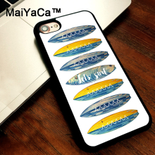 MaiYaCa Let's Surf Board Blue Waves Inspirational Ocean Sea Case For iphone 5s 5 SE Soft Rubber Phone Case For iphone SE case(China)