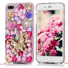 3D Handmade Diamond Case For iPhone 7 Plus 5.5 inch Luxury Bling Shiny Rhinestone Glitter Crystal Clear Hard PC Back Cover