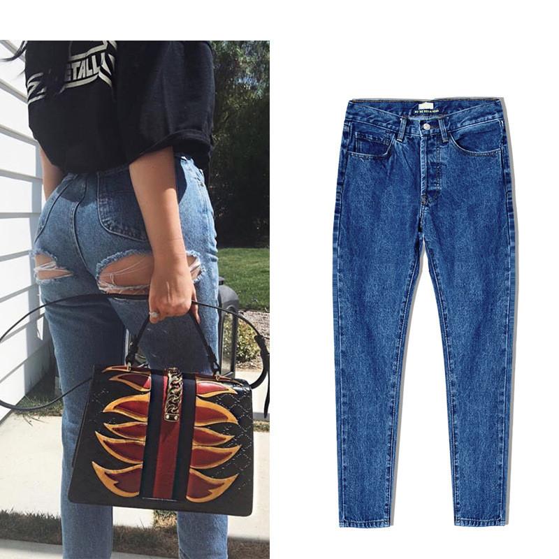 Super Sexy Bu Ripped Hole Jeans Slim Fit Women Jeans High Waist Exposed Hips Fashion Denim Women Boyfriend Skinny Jeans Femme (11)