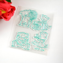 Bear Clear Transparent Stamp DIY Scrapbooking/Card Making/Christmas Decoration Supplies