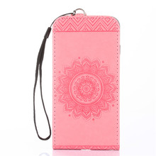 Vertical Kickstand Flip Cases for iPhone 4s Case Leather Flower Cover for iPhone 4s Case Flip Wallet Coque for iPhone 4 Case P15(China)