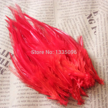 100 PCS / 10-15 cm red pheasant feather party decoration/clothing accessories clothing DIY accessories/hat/mask