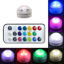 RGB Submersible LED Holiday Lighting with 22Keys Remote Control 3 LED Bulbs Waterproof Home Decoration Tea Light Atmosphere Lamp