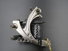 New Top Shader Liner Tattoo Machine Coil Silver Tattoo Gun For Beginner NM128
