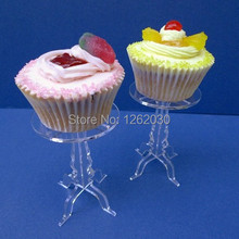 Removable transparent acrylic cupcake display stand,Single cupcake stand Free shipping!!!