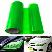 100 X 30CM Car Headlight Tailight Green Vinyl Wrap Film Sheet Cover Sticker Overlay Car styling For Ford Focus Chevrolet vw etc(China)