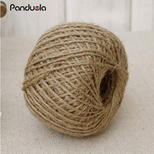 30m Jute twine Burlap Ribbon Trim Twine String rustic wedding decor vintage wedding decoration party decoration craft supplies(China)