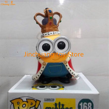 "Funko POP Despicable Me Minion King BOB #168 PVC Action Figure Collection Toy Doll 4"" 10CM HR01"