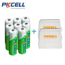 8 X PKCELL Low Self-discharge Durable Ni-MH 1.2V 2200mAh Battery AA Rechargeable Battery With 2Pcs Battery Hold Case Box