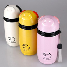 280ml Stainless Steel Thermos Bottle Creative Pig Design Thermo Mug Water Bottle Kitchen Vacuum Flasks Insulated Cup Thermos(China)