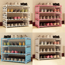 1Set Non-woven Storage Shoe Cabinet Shoes DIY Racks Shoe Shelf Non-woven Fabric Shoe Racks(China)