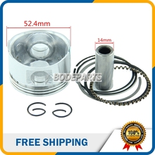 52.4mm Piston 14mm Ring Pin Set Piston Kits For 125cc Lifan Dirt Bike ATV Quad Lying Air-cooled Engine Parts HH-102A