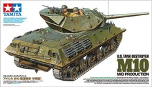 Tamiya 35350 1/35 Military Model Kit WWII U.S Tank Destroyer M10 Mid Production